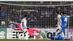 Copa del Rey (octavos, ida): Resumen y gol del Getafe 1-0 Valladolid
