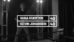 El ex tenista brasileño Gustavo Kuerten, 'Guga', habla con el cantante argentino Johansen