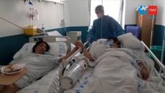 Emotivo reencuentro de madre e hija, pacientes COVID-19, en el Hospital 12 de Octubre