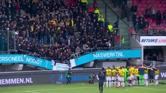 Se hunde la grada de un estadio en Países Bajos durante una celebración