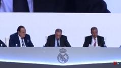 Florentino se reivindica... y lanza un dardo al Barça
