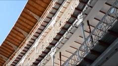 El Beti Jai aún en fase de remodelación, abre sus puertas para que los pelotaris lo prueben