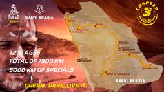 El recorrido del Dakar 2020, en tres dimensiones