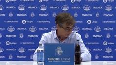 """Fernando Vázquez, abatido tras la derrota del Depor: """"Estoy avergonzado"""""""