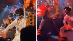 Recital de Higuaín vestido de Elvis Presley en la fiesta de cumpleaños de David Luiz