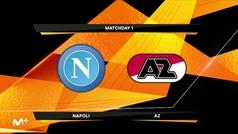 Europa League (J1): Resumen y gol del Nápoles 0-1 AZ Alkmaar