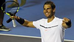 Rafael Nadal encabeza la lista del Abierto Mexicano de Tenis Telcel