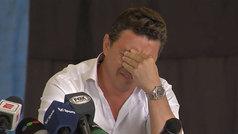 Las lágrimas del 'Muñeco' Gallardo al recordar a su padre en su antiguo colegio