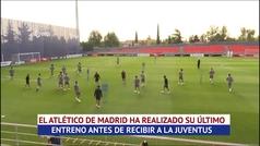 Simeone guarda sus cartas antes de la cita frente a la Juventus