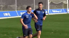 Luca Sangalli vuelve al trabajo en Zubieta 20 días después de sufrir un ictus