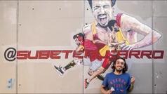 Un mural para darle ánimos después de su peor lesión
