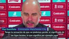 En enero Pep rechazaba la Superliga y ahora el City forma parte de ella, ¿mantendrá su discurso?