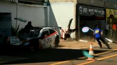 Espeluzante accidente en Brasil: tres mecánicos brutalmente atropellados
