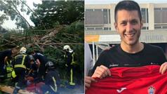 Un futbolista valenciano en estado grave tras caerle parte de un árbol sobre su coche en Navarra