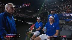 Nadal se emplea como 'capitán' del equipo europeo