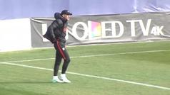 El Atlético regresa al trabajo con un Giménez a pleno rendimiento