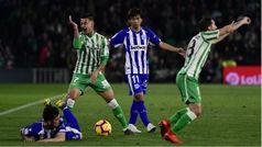 LaLiga (J24): Resumen y goles del Betis 1-1 Alavés