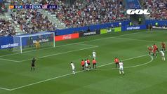 Gol de Rapinoe (p.) (0-1) en el España 1-2 Estados Unidos