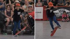 Ahora que el skate es olímpico... ¡vayan preparando una medalla para este chaval de 10 años!