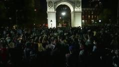 Cientos de neoyorkinos celebran en las calles el avance de Biden hacia la Casa Blanca