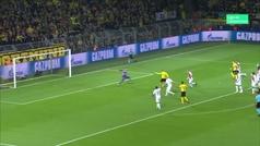 Gol de Bruun Larsen (1-0) en el Dortmund 3-0 Mónaco