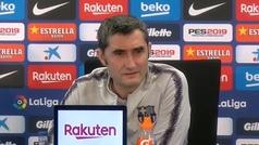 """Valverde: """"Es difícil prescindir de Luis Suárez, nos garantiza ocasiones"""""""