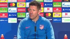 "Simeone: ""¿Cristiano? Pensamos en los Griezmann, Morata, Costa, Koke, Saúl..."""