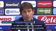"""Conte sobre la Superliga: """"Ya tendremos tiempo"""""""