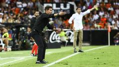 """Simeone: """"Los dos equipos fuimos a ganar, hubo desorden al final y eso no me gustó"""""""