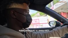 Ansu Fati visita a Marc Márquez en su ?oficina?.