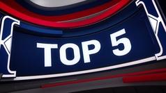Los Lakers, con LeBron a la cabeza dominan el Top 5 de la jornada.