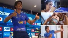 Lo nunca visto en una presentación: un jugador se 'tatúa' la camiseta del Cruzeiro