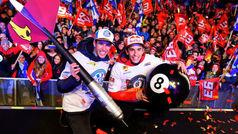 El fiestón de los 10 títulos de los hermanos Márquez en Cervera