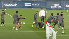 Patada de Neymar a Ander por hacerle un caño y mofarse de él delante de Messi
