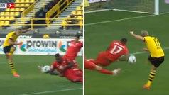 El VAR no se mojó: ¿hay penalti por mano de Boateng en este disparo de Haaland?