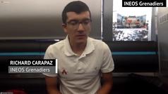 "Carapaz: ""Espero estar en la disputa de esta gran Vuelta"""