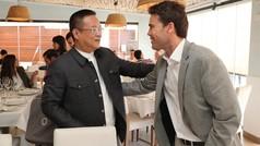 La plantilla despide un curso histórico con una comida presidida por Chen Yansheng