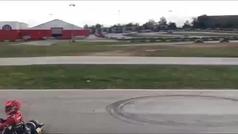 El increíble pilotaje de Marc Márquez encima de un kart... ¡a lo Mario Bros!