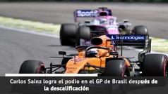 Carlos Sainz, podio histórico y el 100 para la F1 española