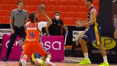 La canasta más difícil de Bubljevic: ¡De rodillas!