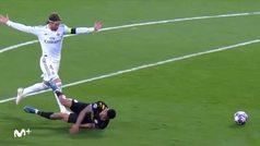 Así fue la roja de Sergio Ramos tras derribar a Sterling