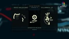LaLiga (J12): Resumen y goles del Rayo Vallecano 2-2 Villarreal