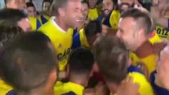 Así celebraron los jugadores del Cádiz el ascenso: locura total