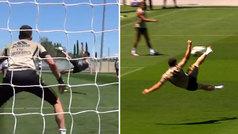 Al Madrid le sale todo: tijerón de Jovic en el entrenamiento con gritos de alucine en Valdebebas