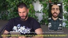 Tiembla Zidane: preguntan a Benzema si le gustaría entrenar al Madrid y responde...