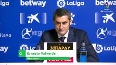"""Valverde: """"¿Messi? No es bueno que los jugadores estén en una urna hasta el partido señalado"""""""