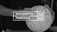 El ex tenista brasileño Gustavo Kuerten, 'Guga', habla con Pedro Capó, nieto de Bobby Capó