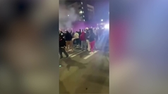 Un coche de la policía atropella en Washington a una multitud que le bloqueaba el paso
