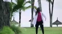 Garbiñe Muguruza, con su nuevo peinado con trenzas, baila a lo Beyonce
