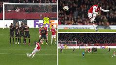 Magistral doblete de faltas de Pépé para dar la victoria al Arsenal: ¡qué zurdita a lo Messi!